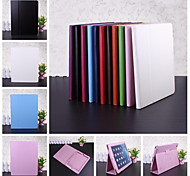 Wkae® Solid Color Litchi Texture Pattern PU Leather Case with Stand for iPad2/3/4(Assorted Colors)