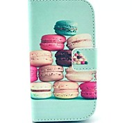 Hamburger Pattern PU Leather Case with Stand for Samsung Galaxy S3 MINI I8190