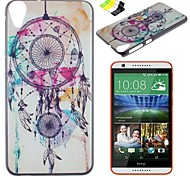 weiße Glocken mustern Koffer und Handyhalter für HTC Desire 820