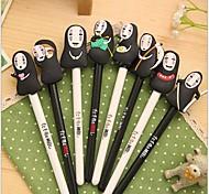 увезен маска мужчина черные чернила гелевая ручка (1 шт случайный цвет)