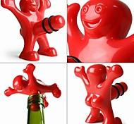 creativo uomini felici di plastica stile tappo di bottiglia 9.5 * 8.5 * 5,5 centimetri (3,74 * 3,35 * 2,17 pollici)
