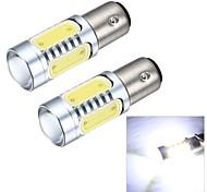 Merdia 1156 7.5W 600LM COB 4SMD LED and 1 Condenser Lens White Light Reversing Lamp / Brake  Light (12V / Pair)