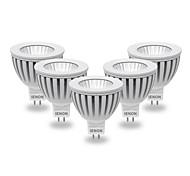 5W GU5.3(MR16) LED Spot Lampen MR16 COB 400-450 lm Warmes Weiß / Kühles Weiß AC 12 V 5 Stück