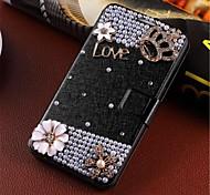 hecho a mano de diamantes flip aparición de sistemas de teléfono inducidas por el viento son adecuadas para samsung Nota4 / 9106 g