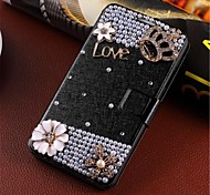 windinduzierte handgefertigte Diamant-Optik Flip-Telefon-Sets passen zu Samsung Hinweis 4/9106 g