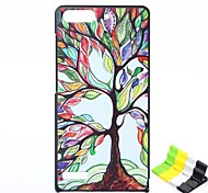 Happy Tree Pattern PU Leather Full Body Case and Phone Holder for Huawei G6