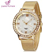 Women Watches Fashion Roman Number Rose Gold Rhinestone Quartz Watches Women