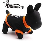 droolingdog® kühlen Fischgrätenmuster aus 100% Baumwolle T-Shirt für Hunde (schwarz XS-L)