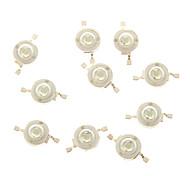 ZDM®  10PCS 3W 700mA 1*COB 100-110LM 515-525K Green Component LEDs(DC 12-24V)