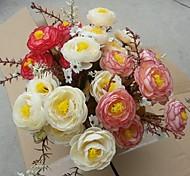 7 forcelle 7 a testa alta qualità autunno tea bocciolo di rosa simulazione set fiore di 3