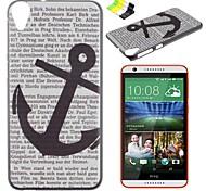 caso duro del modello pc lettera di ancoraggio e supporto del telefono per HTC Desire 820