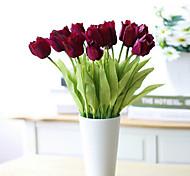 Set Of 3 Fake Tulip Flowers ,Resin Random Color
