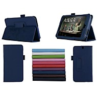 7 Inch Two Folding Pattern Lichee  PU Leather for HP Slate 7 3G Tablet (Assorted Colors)