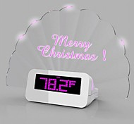 Creative Sector Message Board Luminous Plastic Electronic Alarm Clock(Random color)