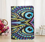 King of The Forest Series Pattern PU Leather Full Body Case with Stand and Card Slot for iPad Air 2