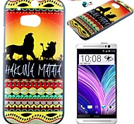 The Lion Pattern PC Back Cover Case With Dustproof Plug for HTC One(M8)