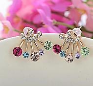 colorati orecchini di diamanti della corona # 70-1