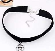 Lucky Star Velvet Fashion Metal Necklace