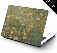 berühmte Gemälde lmond Baum Van Gogh Design Ganzkörper-Schutz-Kunststoffgehäuse für 11-Zoll / 13 Zoll neue Mac Book Luft