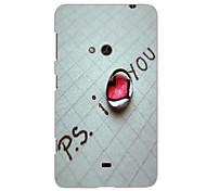 I Love You Design Hard Case for Nokia N625