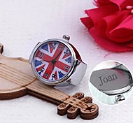 Personalized Gift The Union Jack Design Alloy Ring Watch Engraved Jewelry