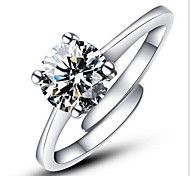 Жен. Массивные кольца Обручальное кольцо Любовь Регулируется Мода Открытые Классика бижутерия Стерлинговое серебро Искусственный бриллиант