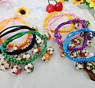 Dog Necklaces Spring/Fall - Black / Green / Pink / Yellow Nylon