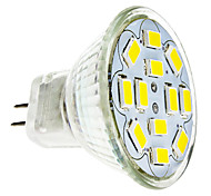 6W GU4(MR11) LED-spotlampen 12 SMD 5730 570 lm Warm wit / Koel wit DC 12 V