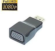alta velocidad v1.4 HDMI macho a hembra adaptador convertidor de vídeo VGA