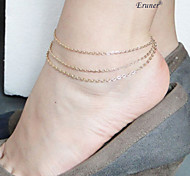 Eruner®Fashion 3 Layers Charm Chain Anklet Foot Bracelet Beach Sandal Barefoot Jewelry