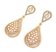 European Style Hollow Water Drop Earrings