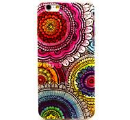 fiore del sole pattern colorato TPU morbida per iPhone 6 Plus