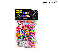 600PCS Rainbow Color Loom Fashion Loom Band(1Package S Clip)