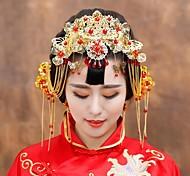 Women's Gold/Tulle/Alloy Headpiece - Wedding Tiaras
