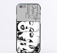 Three Marilyn Monroes Laughing Pattern PC Hard Back Cover Case for iPhone 6