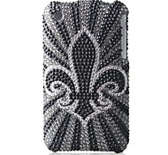 Grayness Bottom Flower Bling Case PC Hard Case for iPhone 3G/3GS