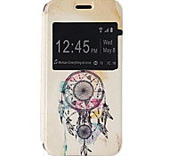 Fashion Design Pattern PU Open the Window Leather Case and Stand for Samsung Galaxy S5mini