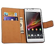 Genuine Leather Wallet Style Case for SONY Xperia SP M35h (Assorted Colors)