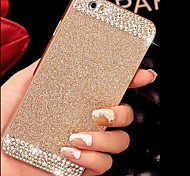 Solid Luxury Bling Glitter Back Cover Case with Diamond for iPhone 6(Assorted Colors)