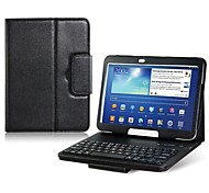 "Faux Leather Flip Case with Built-in Bluetooth Keyboard for Samsung Galaxy Tab 3 P5200 10.1"" Tablet PC (Assorted Color)"