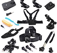 18-in-1 Accessories Kit for Gopro Hero4 Silver Black Hero 4 3+ 3 2 Camera