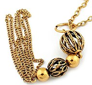 Fashion Ball Sweater Chain Alloy Tassel Y Necklace Random Color