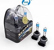 HM® plasma 881 12v 27w lámpara halógena de faros de xenón bombillas blancas (un par)