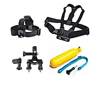 Gopro Accessories 4 in 1 Chest Strap+Head Strap+Floating Handle Grip+Handlebar Seatpost For GoPro Hero 1 2 3 3+ 4 Camera