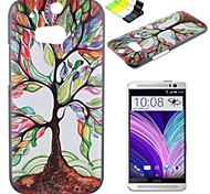 Colorful Tree Pattern PC Hard Case and Phone Holder for HTC One(M8)