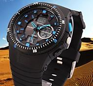 moda reloj de goma reloj deportivo de banda analógico-digital impermeable de los hombres (colores surtidos)
