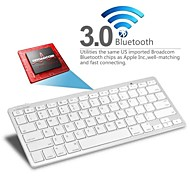 kemile teclado inalámbrico Bluetooth3.0 para macbook pc mac / ipad 3 4 / iphone / windows xp 7 8