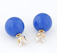 European Style Simple Flash Diamond Beads Wild Temperament Earrings