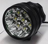 POP Lite DC 8xCree XM-L T6 3-Mode LED Bike Lights  Set(9000LM,Black)