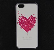 Peach Heart Design Pattern Hard Cover Case for iPhone 5C